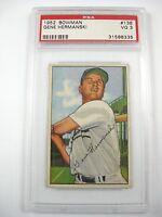 1952 BOWMAN GENE HERMANSKI #136 PSA VG 3 CHICAGO CUBS Major League Player