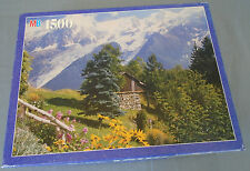Milton Bradley York Jigsaw Puzzle Chalet in the French Alps 4355-10 1500 Pieces
