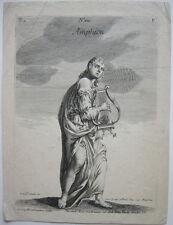 Martin G. crophius (siglo 18.). con amphion Lyra ORIG grabado mitología