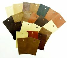 "Leather Scrap Pieces Fabric Cowhide Genuine 100 Pcs Assorted Colors 3.5"" x 2.1"""