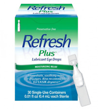 REFRESH Plus Lubricant Eye Drops For Dry Eyes- 30 single-use containers 11/2019+