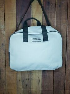 Lacoste Parfums Weekender Bag Carry On White Gray Shoulder &Handle Straps