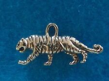 Pendant Tiger Charm Cat Pendant 2-Sided Tibetan Silver Charm Wild Animal Charm