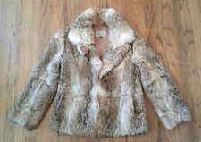 VTG 70s 80s Dino Ricco Rabbit Hair Fur Bohemian Jacket Disco Boho Hippie Coat S