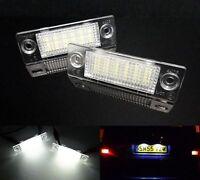 2x VW T5 Transporter Lumière Blanc Clair Éclairage de Plaque d'immatriculation