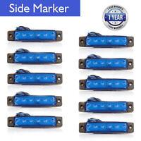 10Pcs Azul 24v 6 Led Front Side Marker indicadores Luces Lámpara Camión Remolque