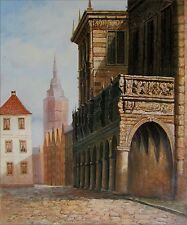 Ancient Building, Quality Hand Painted Oil Painting, 20x24in