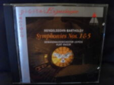 Mendelssohn-Symphony No. 1 & 5-veste casa Orchestra Lipsia/Masur
