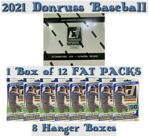 Seattle Mariners 2021 DONRUSS BASEBALL Retail BREAK 1 Cello Box 8 Hangers