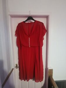 Plus Size Hell Bunny Red Dress Size 26l28 Worn Once