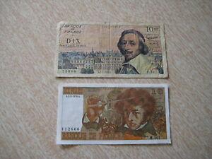 Lot de 2 billets de 10F