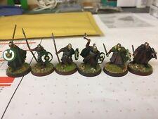 LOTR Rohan X 3 guerreros de lanza espada 2 X, 1 X HACHA bien pintados & basado
