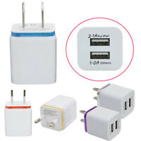 US/EU Universal Home Travel Dual Port AC USB Wall Charger for Smartphones Grace