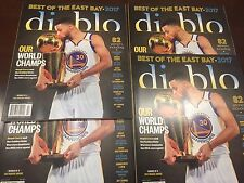 Golden State WARRIORS 2017 Diablo EAST BAY (OAKLAND) CHAMPS Magazine