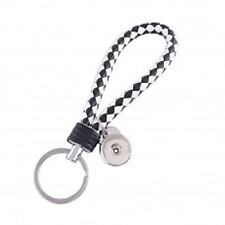 White Key Chain Magnolia Jewelry 18mm Fits Ginger Snap Ginger Snaps Black &