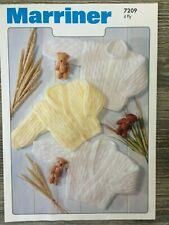 """Marriner Knitting Pattern: Baby Cardigans, 4ply, 14-20"""", 7209"""