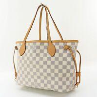 Authentic LOUIS VUITTON Neverfull PM Damier Azur Tote Bag Purse #31325