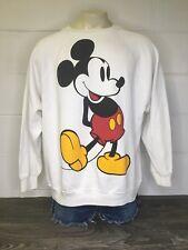 Mickey Mouse Sweatshirt Raglan 80s 90s Vtg Disney Wear Giant USA Sweater 4XL