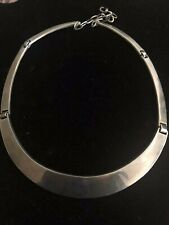 ESTATE TANE ORFEBRES MEXICO 925 STERLING SILVER GORGET NECKLACE CHOKER