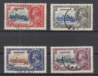 AQ5450/ BRITISH BARBADOS – SILVER JUBILEE - SG # 241 / 244 COMPLETE USED