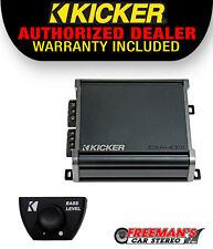 Kicker 46CXA4001 Class D Amp Mono 800W RMS Max Subwoofer Amplifier + Bass Knob