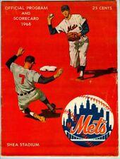 Vintage 1968 New York METS Official Program & Scorecard! Vs. Pittsburgh PIRATES!