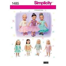 Simplicity Nähe Muster 45.7cm (45.5cm) Puppe Kleidung Top Kleid Tunika 1485