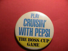PEPSI PLAY CRUISIN THE BOSS CUP GAME SODA POP DRINKING BEVERAGE PIN PINBACK NICE