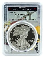 2003 W Silver Eagle Proof  PCGS PR69 DCAM  - West Point Frame