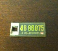 1954 CALIFORNIA Mini License Plate D.A.V. Key Chain Fob (4B86075)