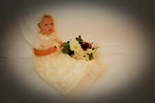 "Unusual Ivory Christening Gown - ""Constance"""