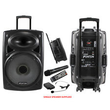 Fenton FPS15 Portable PA System Battery Powered USB Sound Wireless Handheld Mic