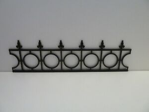 Dolls House Garden Accessory Low Black Miniature 1:12th Scale Plastic Fencing