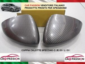 Caps Mirror Fiat Tipo 2015 > Pair Effect Carbon Right+Left Rear View