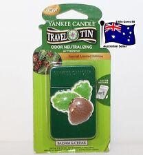 YANKEE CANDLE * Balsam & Cedar * Scented Tin AIR FRESHENER * 4 Weeks Fragrance