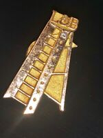 Antique  Diamond And Gold Pin- Pin Brooch - Authentic Diamond - Beautiful