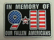 """""""NEW""""  Patch """"IN MEMORY OF OUR FALLEN AMERICANS - 9/11""""  PPL9314"""