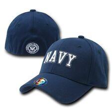 United States US Navy USN Blue Flex Baseball Fit Ball Cap Caps Hat Hats Sz S/M