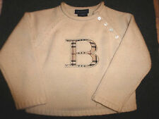BURBERRY BOYS LONG SLEEVES 100% WOOL SWEATER 3
