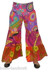 10 Cotton Printed Patchwork Palazzo Pants Boho Gypsy Trousers TR71