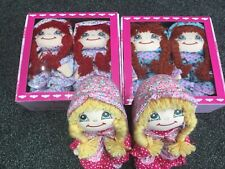 LELLI KELLY DOLL SLIPPERS  FLORAL BLONDE, GINGER OR BROWN PLEATED HAIR LK8000
