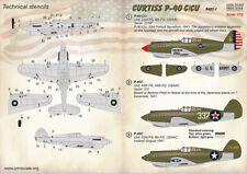 Print Scale Decals 1/72 Curtiss P-40 C/CU partie 1 # 72322