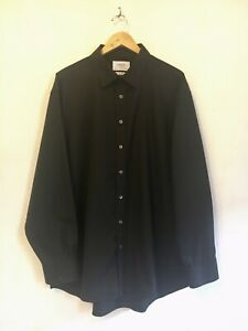 "Charles Tyrwhitt, Black-Non Iron Cotton Shirt. Size 19"" Classic Fit. Unworn"