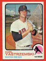 1973 Topps #245 Carl Yastrzemski EX/EX+ WRINKLE HOF Boston Red Sox FREE SHIPPING