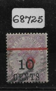 BRITISH HONDURAS SG43a 1891 6c ON 10c ON 4d WITH 6 & BAR INV USED WITH CERT