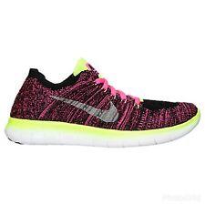 Nike Free RN Flyknit UK Size 5 834363-600 Pink Black Silver White