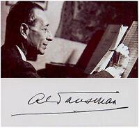 ALEXANDRE TANSMAN Composer JEWISH PIANIST Hand SIGNED AUTOGRAPH + PHOTO + MAT