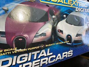 Scalextric Digital Supercars Bugatti Veyron. Multi car changing