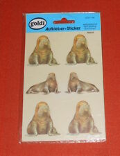 Goldi Walrus Stickers Aufkleber Made in Germany Vintage Rare 7x4