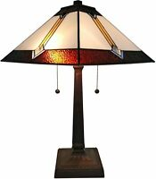 Tiffany Style Table Lamp Victorian Mission Craftsman Desk Stained Glass Home NEW
